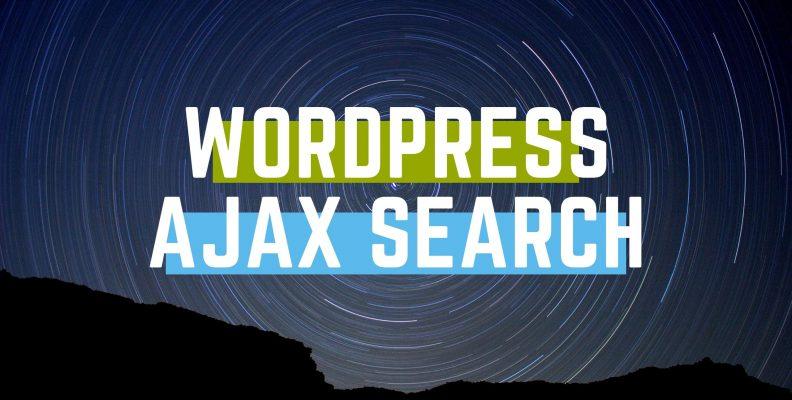 wordpress ajax search