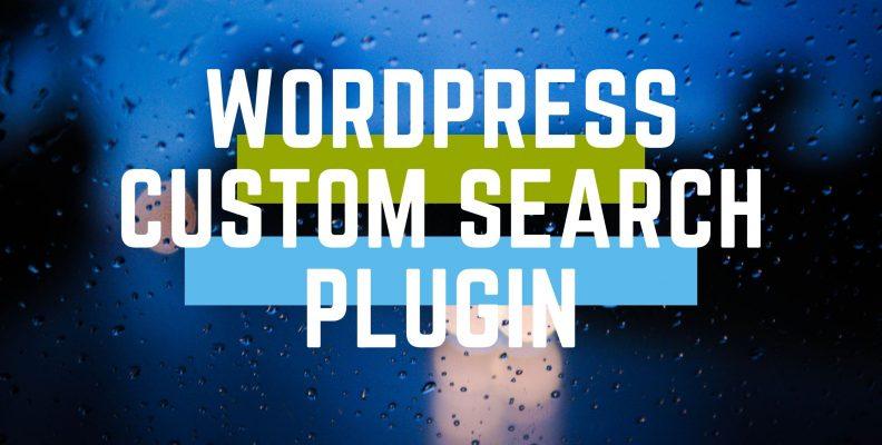 Wordpress custom search plugin