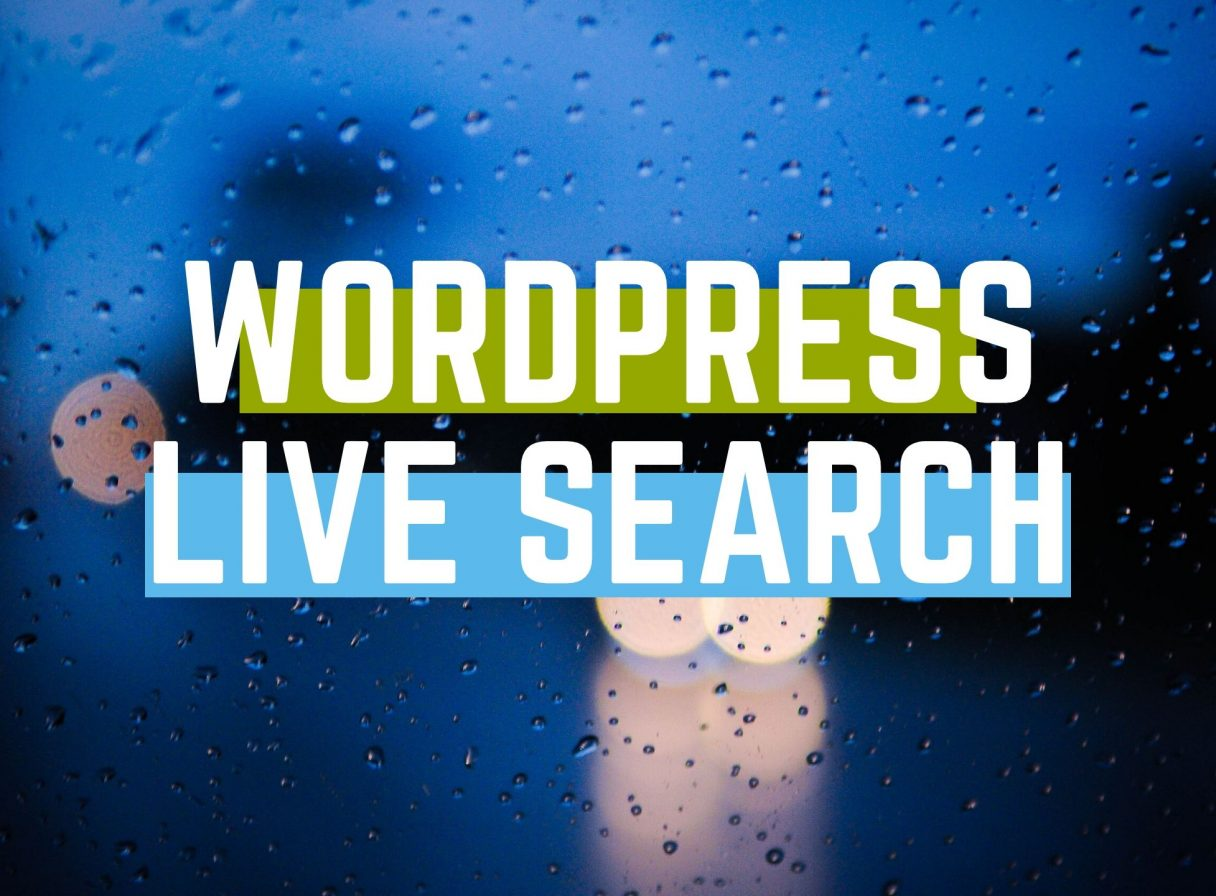 wordpress live search