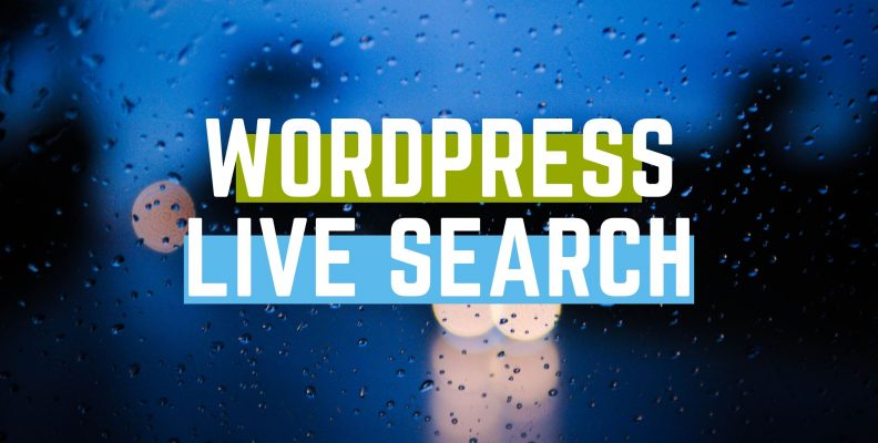 wordpress live search
