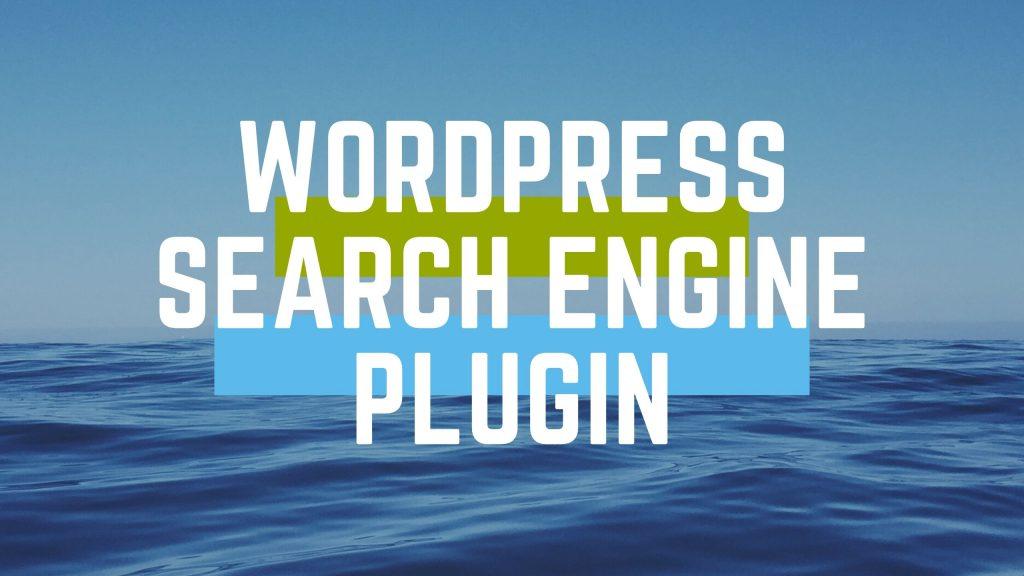 Wordpress search engine plugin