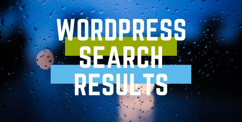 wordpress search results