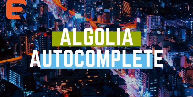 algolia autocomplete