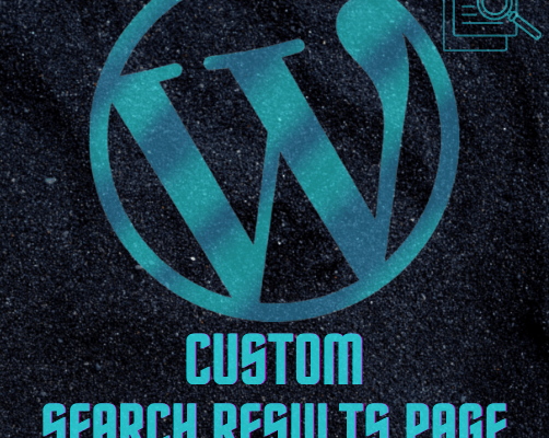 WordPress Custom Search Results Page