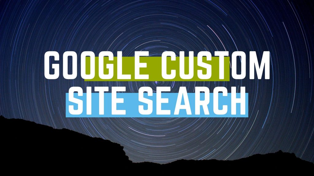 google custom site search