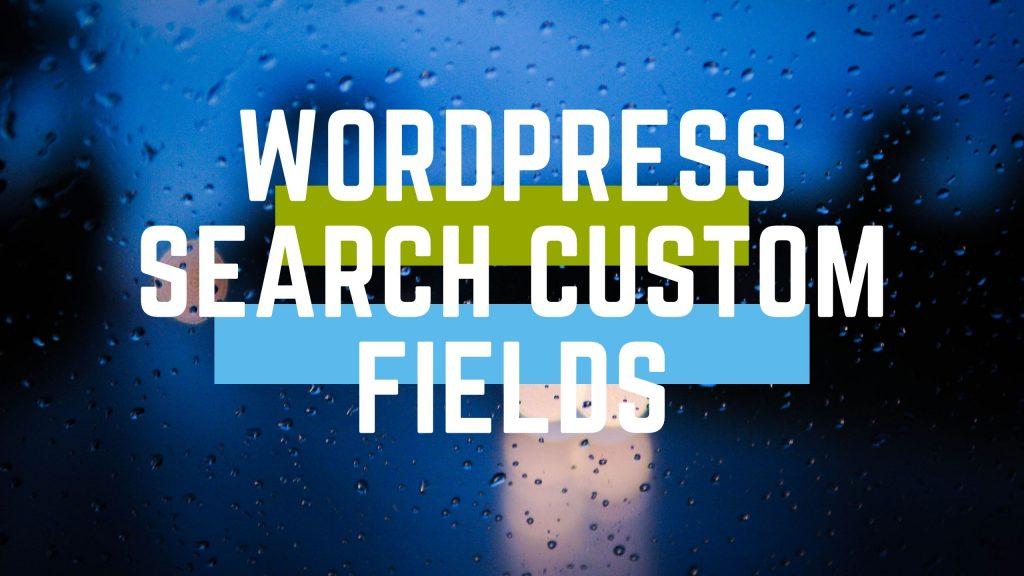 wordpress search custom fields
