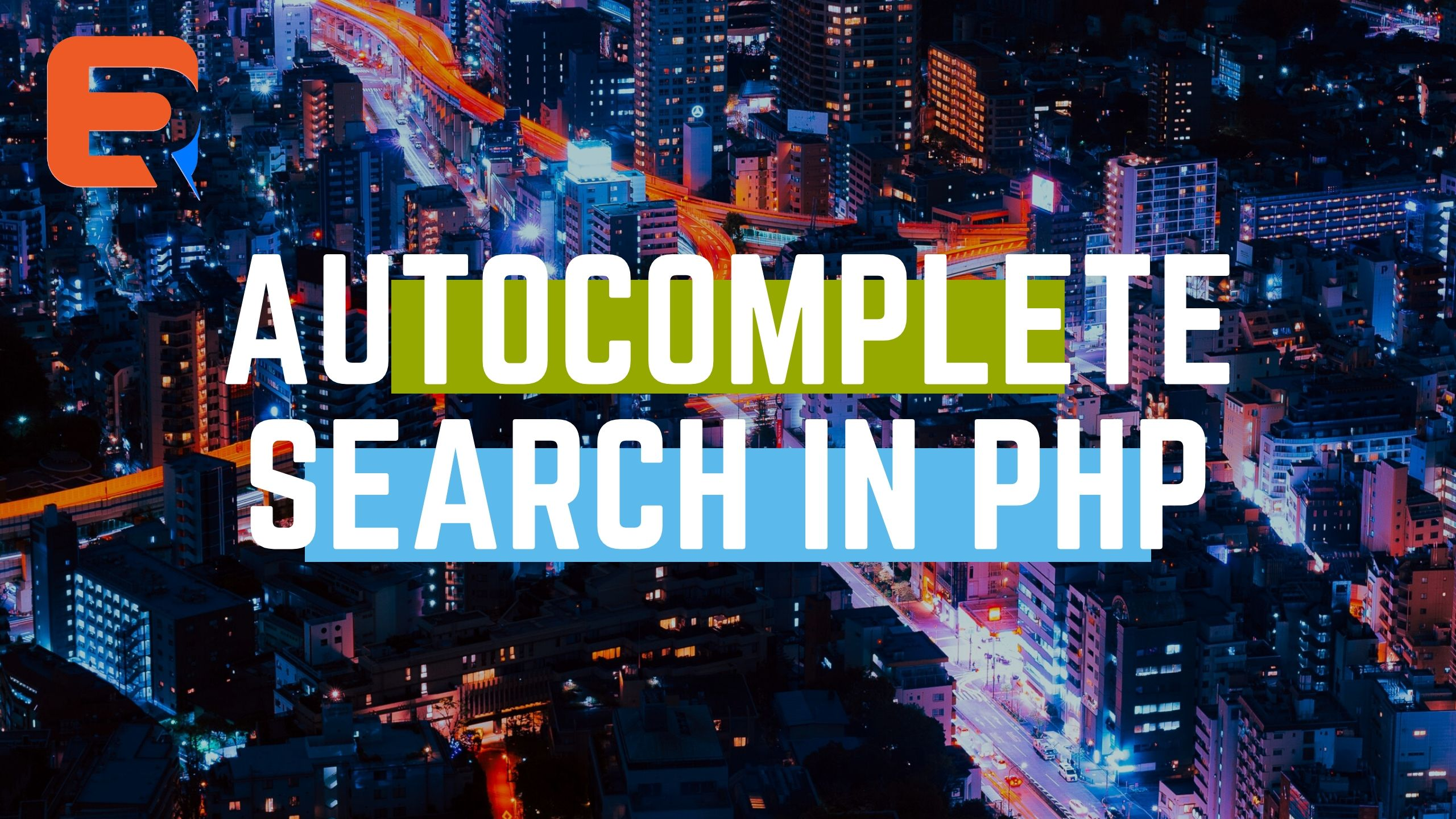 autcomplete search in PHP