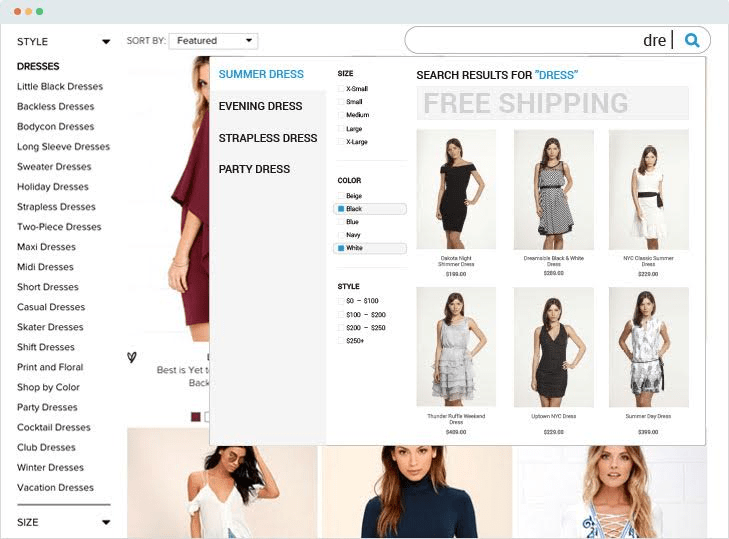 ecommerce search tool