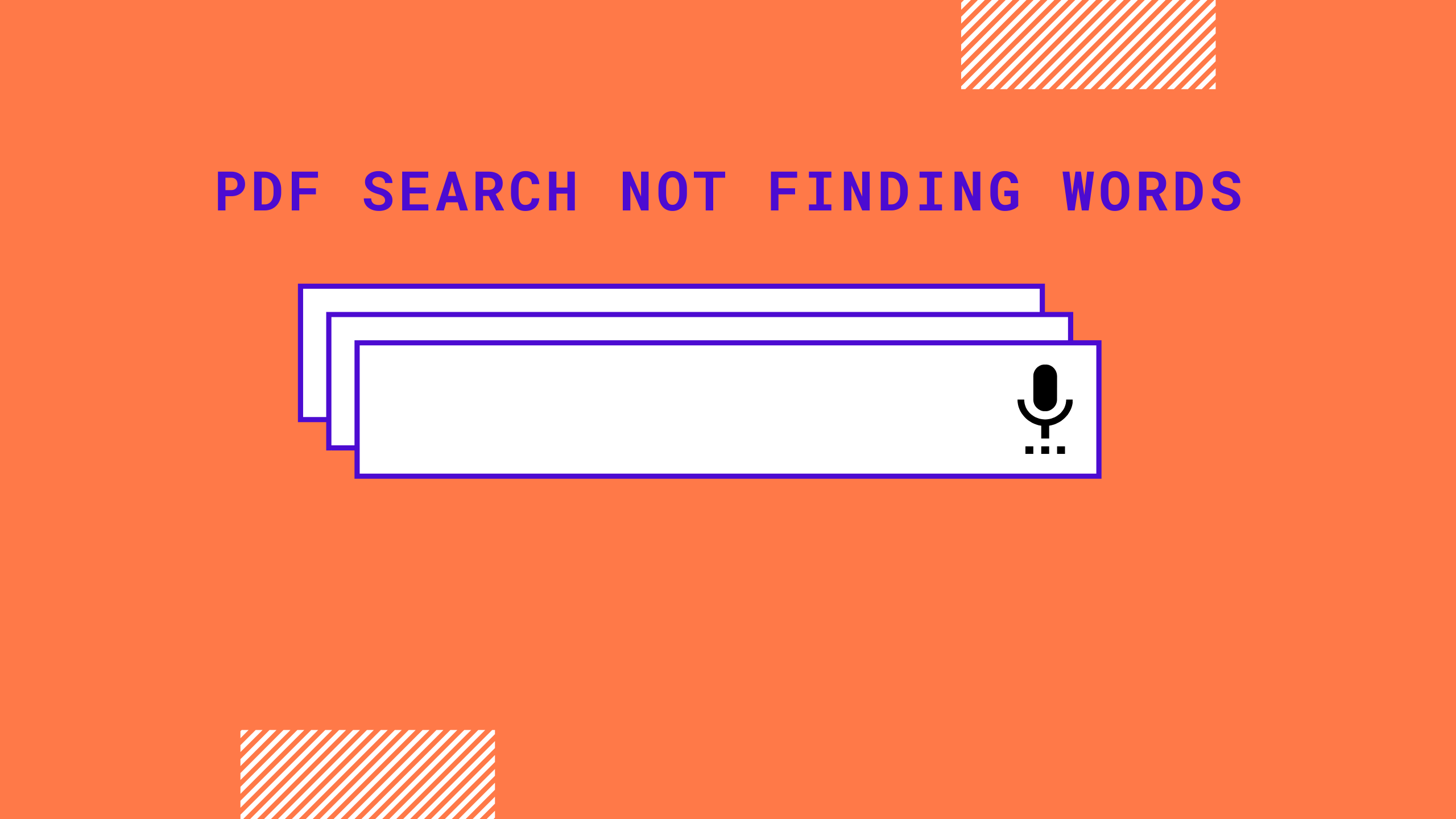 PDF Search Not Finding Words