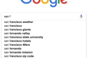 google site search autocomplete