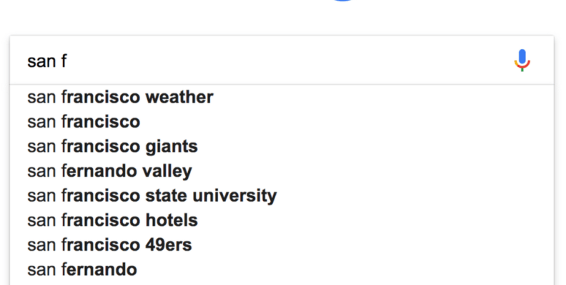 google site search autocomplete