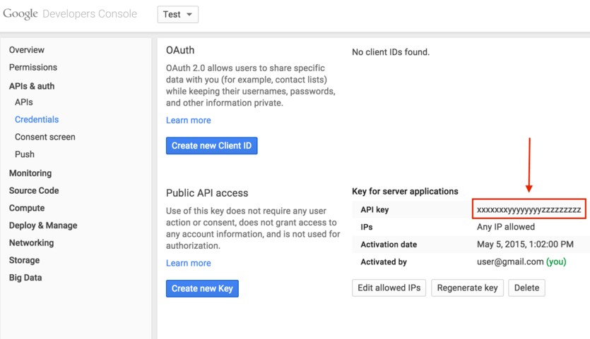 Google Custom Search API Key