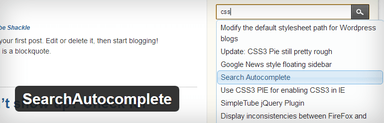 WordPress search plugin autocomplete