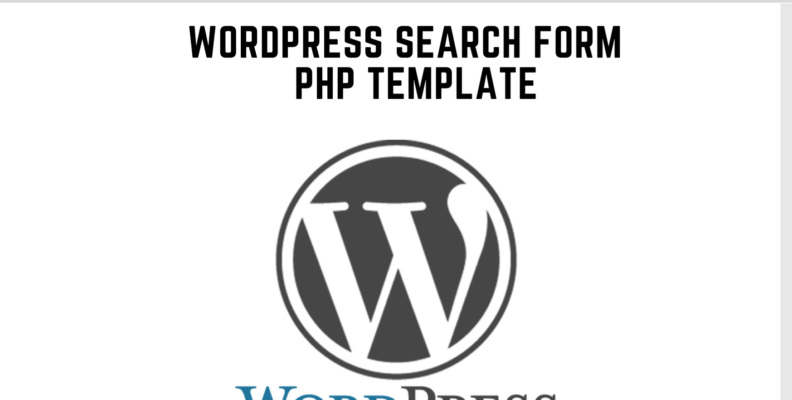 wordpress search form php template
