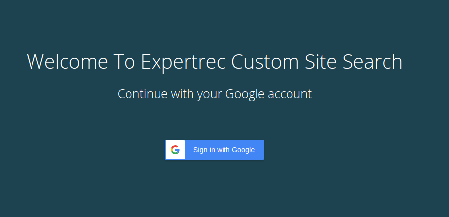 sign up as new user for ExpertRec