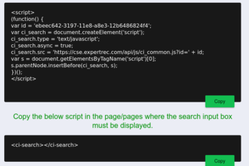 add a Google Search on Your Website Javascript.