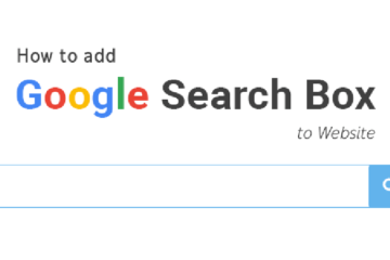 adding google search box to website