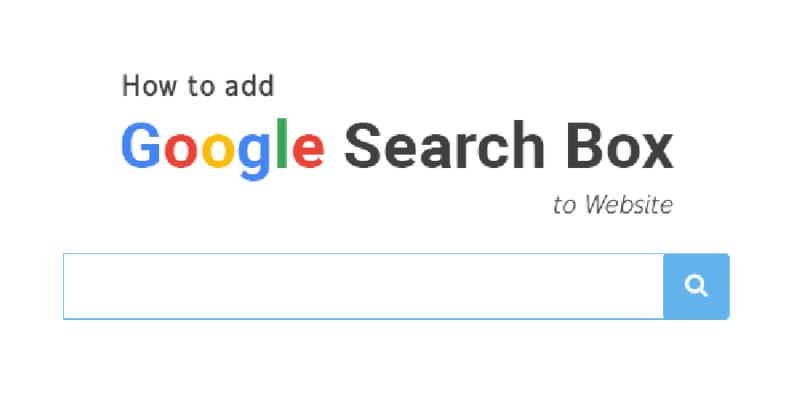 adding google search box to website