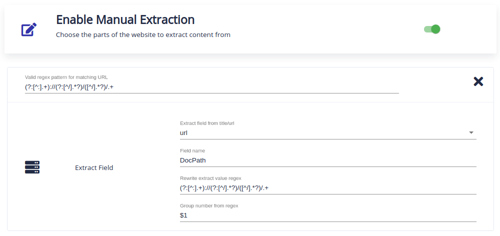 manual extraction