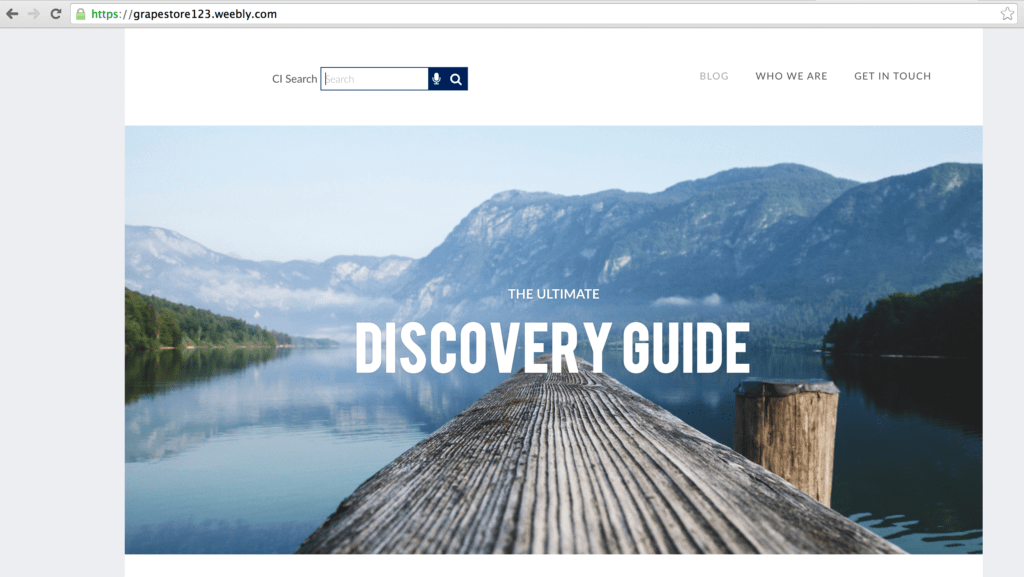 Expertrec integration with Weebly website
