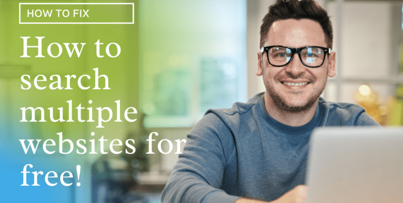 how to search multiple websites for free
