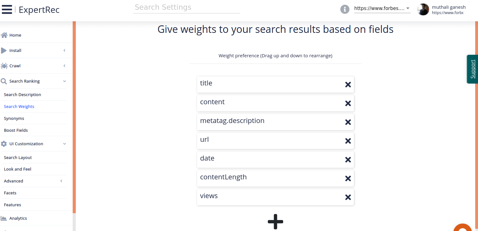search weights for better relevance