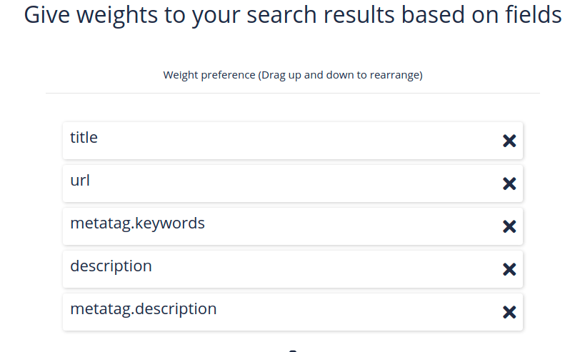 search weights