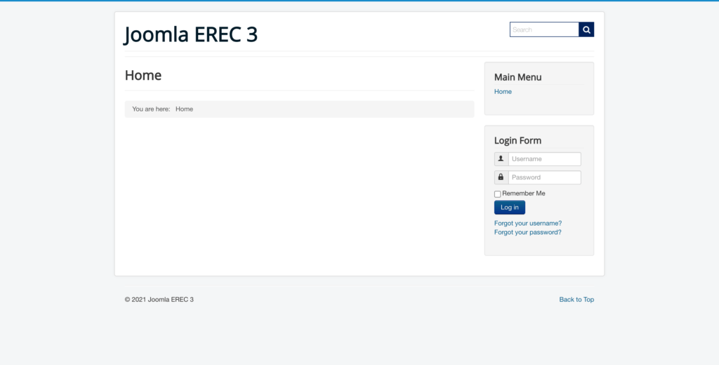 ExpertRec Site Search added to Joomla website, Final look and feel.