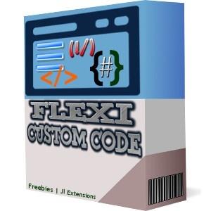 Flexi custom code module for joomla