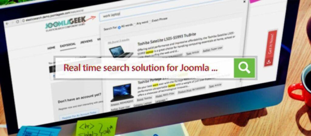 Joomla Geek elastic search