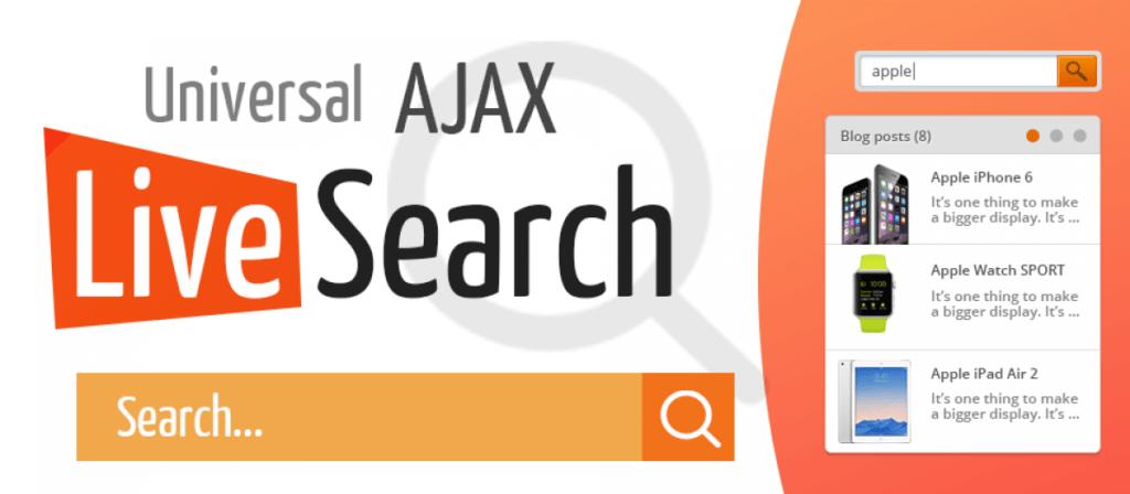 Universal live ajax joomla search module