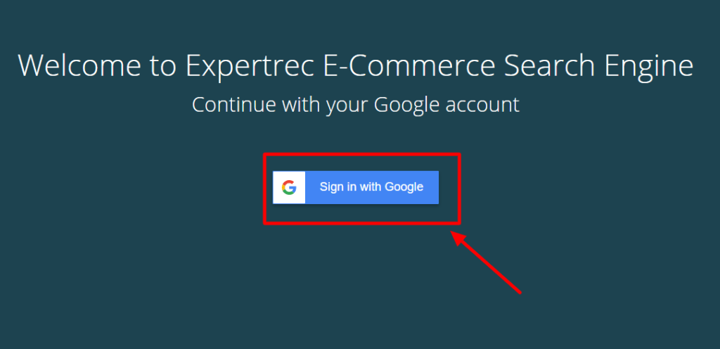 Sign in with Google account to get wix store search bar