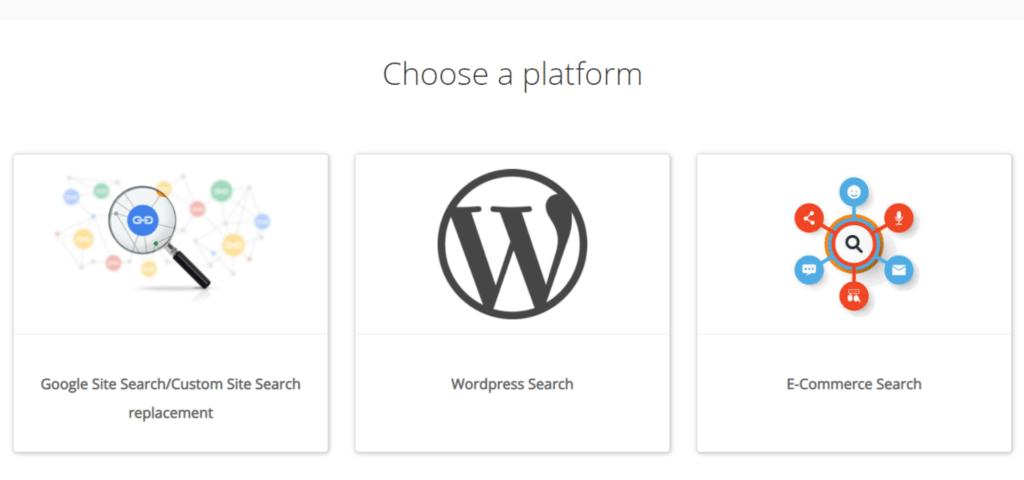 Choose a platform for wix search bar code