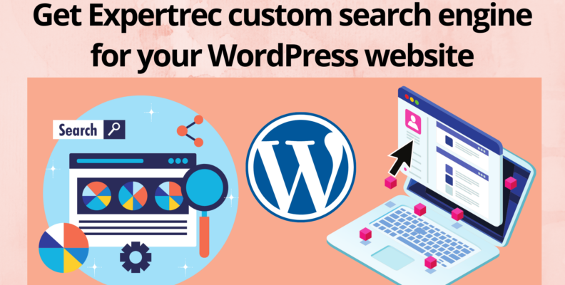 Get Expertrec custom search engine for your WordPress website
